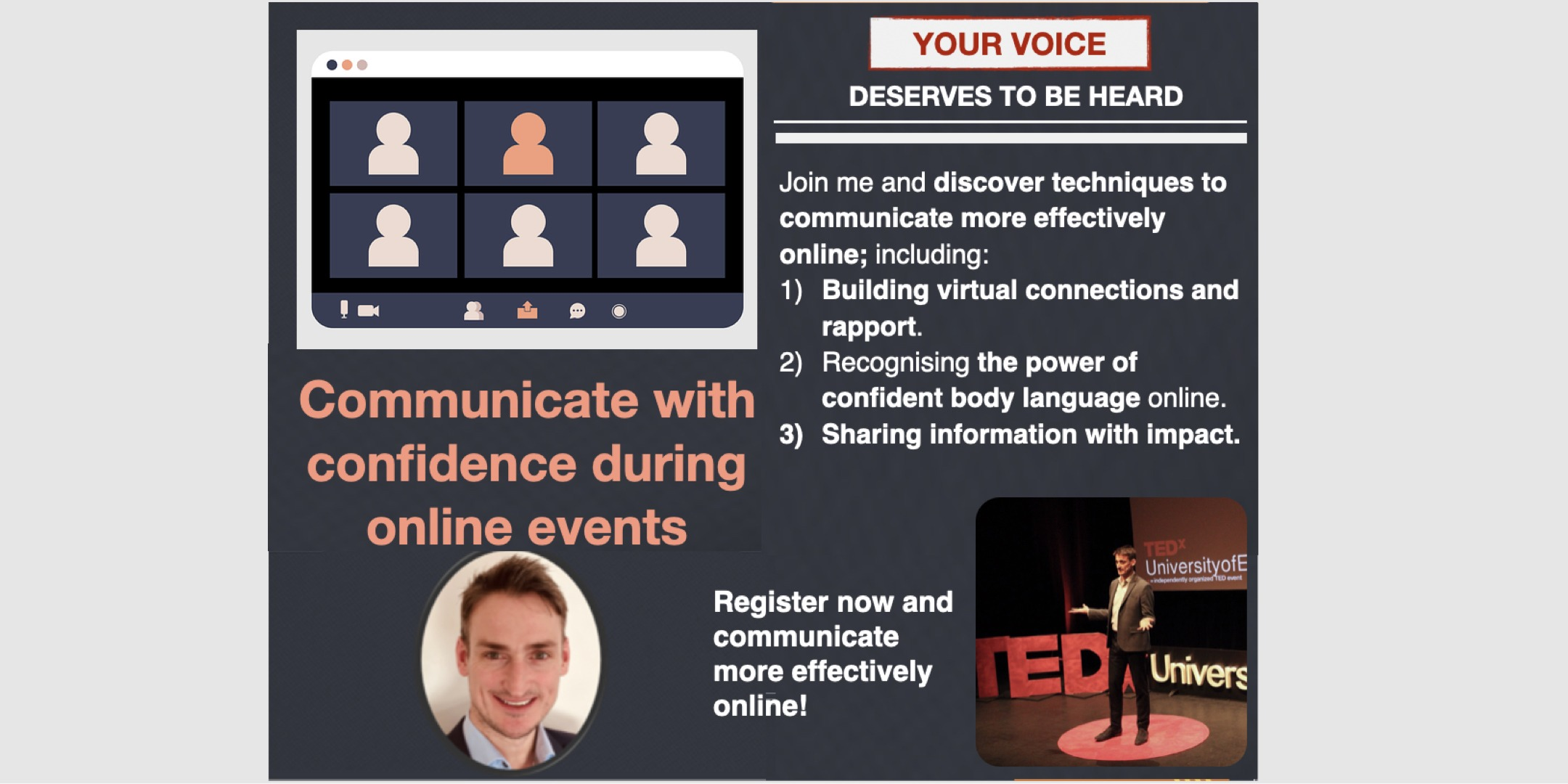 Confident online communication with David Murray
