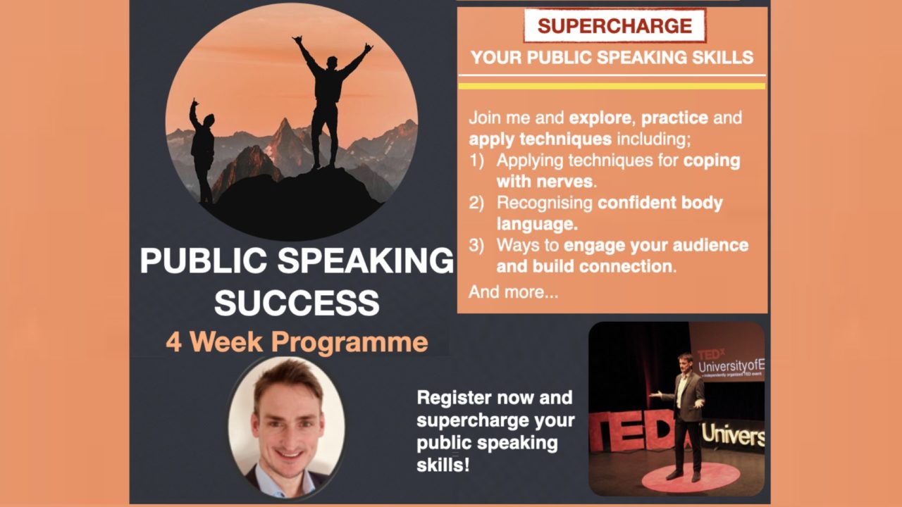 Public speaking success programme with David Murray