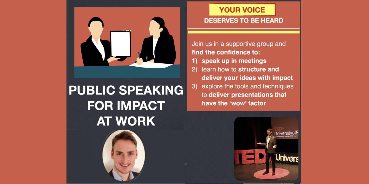 Public speaking for work